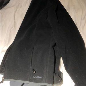 Black L.L. Bean fleece